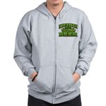 Irish You Were Beer Shamrock Zip Hoodie
