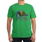 Couch Potato Fighting Men's Fitted T-Shirt (dark)