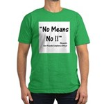 Compliance No Means No Men's Fitted T-Shirt (dark)