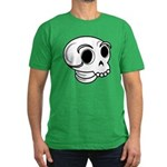 Funny Skull Men's Fitted T-Shirt (dark)