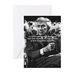 Bertrand Russell Philosophy Greeting Cards (Packag