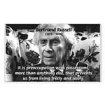 Bertrand Russell Philosophy Rectangle Sticker