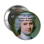 "French Philosopher Rousseau 2.25"" Button (10 pack)"