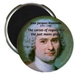 "French Philosopher Rousseau 2.25"" Magnet (10 pack)"