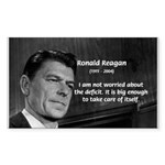 President Ronald Reagan Rectangle Sticker