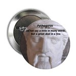 Greek Mathematician Pythagoras Button