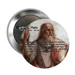 "Plato: Philosophy / Equality 2.25"" Button (100 pac"