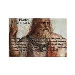 Plato: Philosophy / Equality Rectangle Magnet