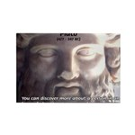 Plato: Wisdom Knowledge Play Rectangle Magnet (10