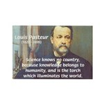 Louis Pasteur: Science Humanity Rectangle Magnet