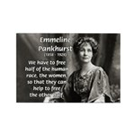 Suffragist Emmeline Pankhurst Rectangle Magnet (10
