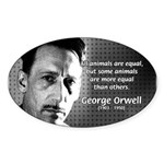 Animal Farm: George Orwell Oval Sticker