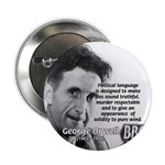 "Politics / Language: Orwell 2.25"" Button (10 pack)"