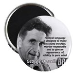 "Politics / Language: Orwell 2.25"" Magnet (10 pack)"