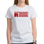 Rated R Red State Conservative Women's T-Shirt