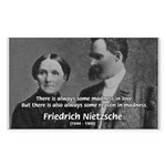 Nietzsche Love Madness Reason Sticker (Rectangular
