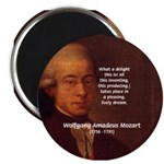 Mozart's Work: Symphony, Piano Magnet