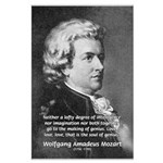 Music, Genius and Mozart Large Poster