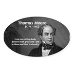 Eternal Poetry Thomas More Oval Sticker
