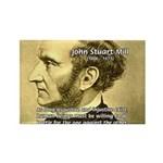Utilitarianism John Mill Rectangle Magnet (100 pac