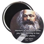 "Union of Workers: Marx 2.25"" Magnet (10 pack)"