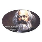 Union of Workers: Marx Oval Sticker