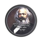 Union of Workers: Marx Wall Clock