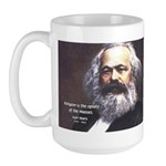 Karl Marx Religion Opiate Masses Large Mug