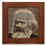 Civilization and Marx Framed Tile
