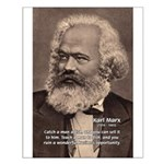 History Analyst Karl Marx Small Poster