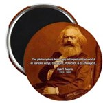"Power of Change Karl Marx 2.25"" Magnet (10 pack)"