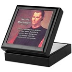 Political Theory: Machiavelli Keepsake Box