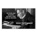 Truth Existentialist Kierkegaard Sticker (Rectangu