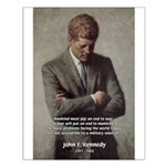 Man / War John F. Kennedy Small Poster