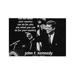 Famous Quote from JFK Rectangle Magnet (10 pack)