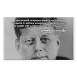 American Politics JFK Rectangle Sticker
