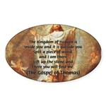 Jesus Kingdom of Heaven Oval Sticker