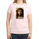 Jesus Peace and Love Women's Pink T-Shirt
