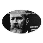 Pragmatic William James Oval Sticker