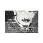 Man / Language: Heidegger Rectangle Magnet (100 pa