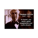 Imagination Thomas Edison Rectangle Magnet