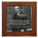 Paul Dirac Quantum Theory Framed Tile