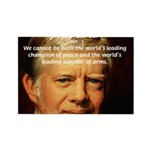 War and Peace: Jimmy Carter Rectangle Magnet (10 p