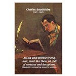 French Poets Baudelaire Large Poster