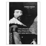 Philosopher Francis Bacon Small Poster