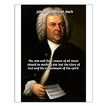 Glory God Music J. S. Bach Small Poster