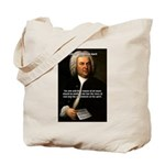 Glory God Music J. S. Bach Tote Bag