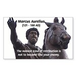 Emperor Marcus Aurelius Rectangle Sticker
