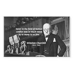 World War II Churchill Rectangle Sticker