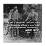 Marie & Pierre Curie Good Evil Tile Coaster